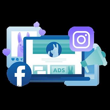Facebook and Instagram advertising guide illustration