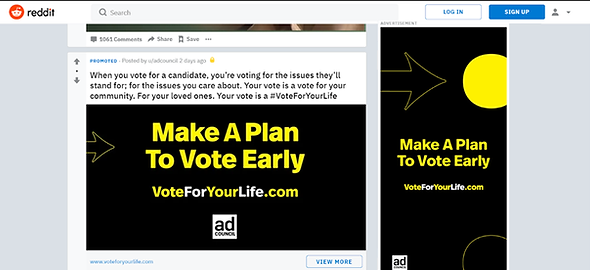 Example of Reddit Trending Today Takeover Ad