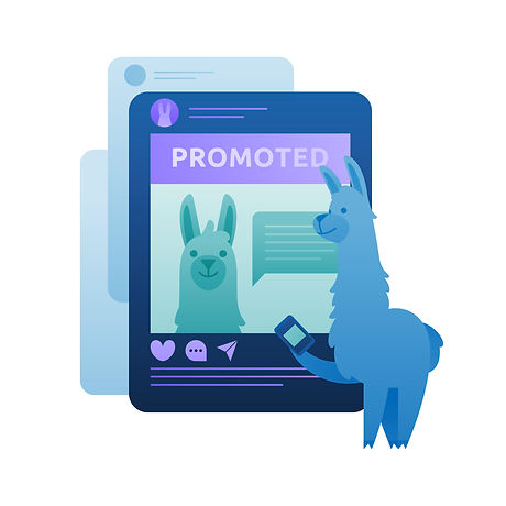 Facebook and Instagram marketing illustration