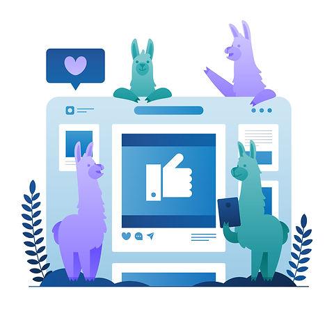 homepage llama illustration