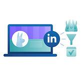 Linkedin marketing illustration