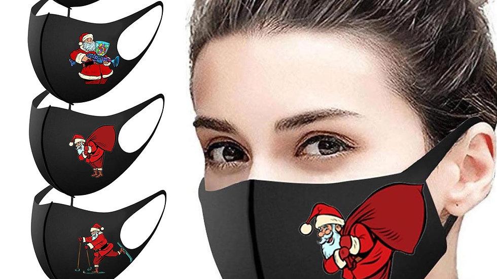 5 x Adult Christmas Themed Face Masks - Washable