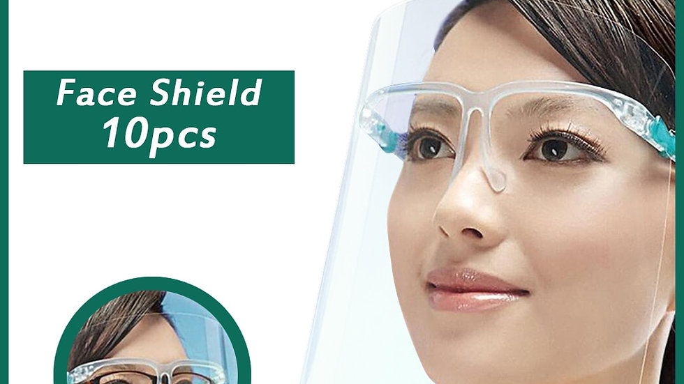 10 x  Glasses Style Face Shield  Isolation Mask - Facial Protection Visor