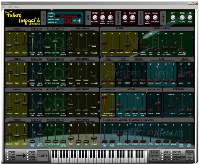 panda MIDI Future Impact I. bass synth synthesizer desktop editor application