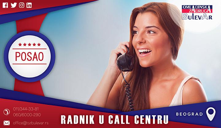 Beograd, Poslovi, Poslovi preko omladinske zadruge, Radnik, call, centar, posao u call centru beograd, posao u call centru, call centar operater,