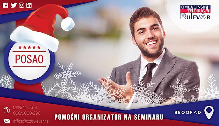 Beograd, Poslovi, Poslovi preko omladinske zadruge, pomo'ni organizator, seminar, organizator seminara