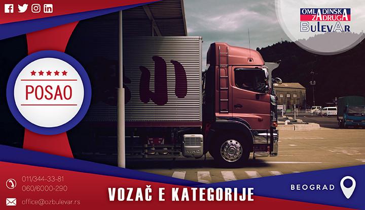 Beograd, Poslovi, Poslovi preko omladinske zadruge, posao vozač, posao vozac, posao vozac kamiona, vozac, vozac kamiona, vozač kamiona