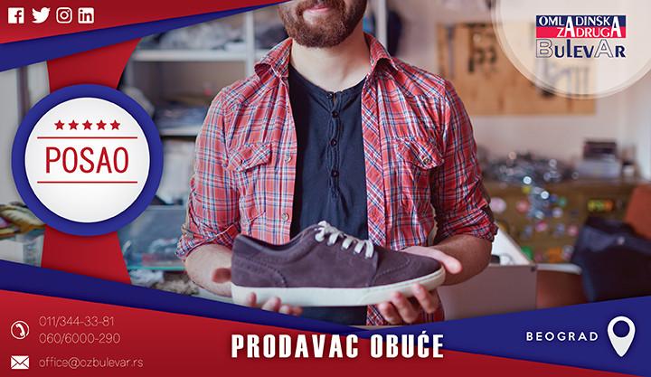 Beograd, Poslovi, Poslovi preko omladinske zadruge, Omladinska zadruga, Prodavac obuće, posao u centru grada, posao za studente