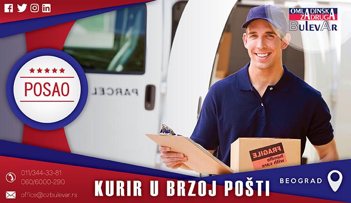 Beograd, Poslovi, Poslovi preko omladinske zadruge, Kurir, posao kurir, brza pošta kurir, brza pošta, dostavljač, vozač, posao vozač,