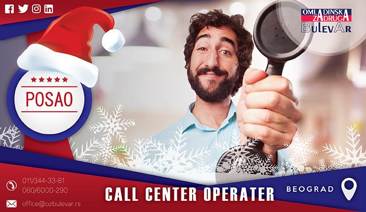 Beograd, Poslovi, Poslovi preko omladinske zadruge, call center operater,