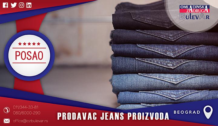 Beograd, Poslovi, Poslovi preko omladinske zadruge, Prodavac, jeans, pantalone, kosulja, prodavnica odece, butik,