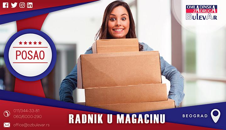 Beograd, Poslovi, Poslovi preko omladinske zadruge, Magacin, magacinski poslovi, posao u magacinu
