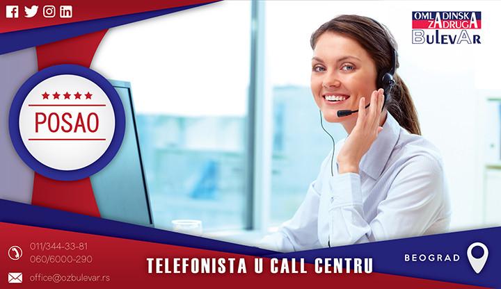Beograd, Poslovi, Poslovi preko omladinske zadruge, Omladinska zadruga, Call centar, telefonista, beograd pozivački centar