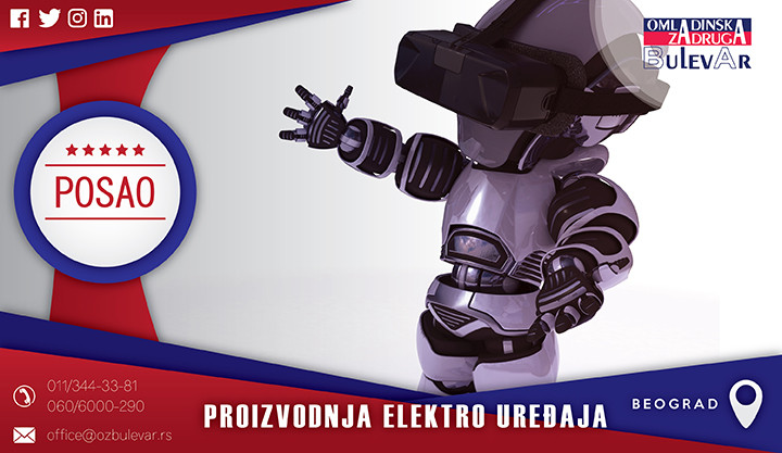 Beograd, Poslovi, Poslovi preko omladinske zadruge, Omladinska zadruga, elektronika, uređaji, sklapanje