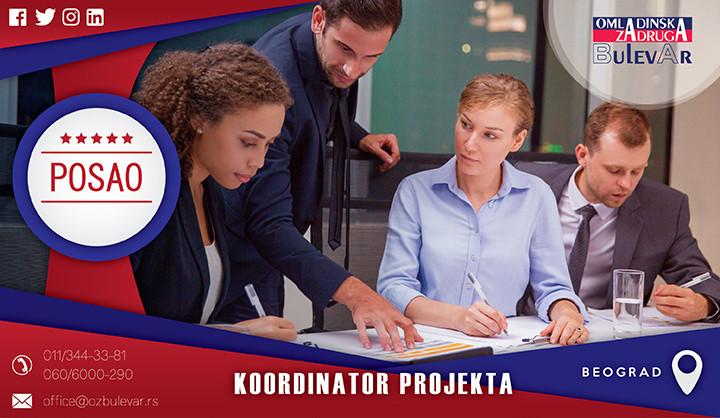 Beograd, Poslovi, Poslovi preko omladinske zadruge, Omladinska zadruga, Koordinator projekta, projekat, koordinator,