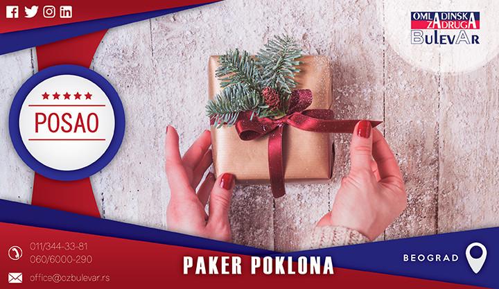 Beograd, Poslovi, Poslovi preko omladinske zadruge, Omladinska zadruga, Pakovanje poklona, paker poklona, poklon, posao, novogodisnji posao
