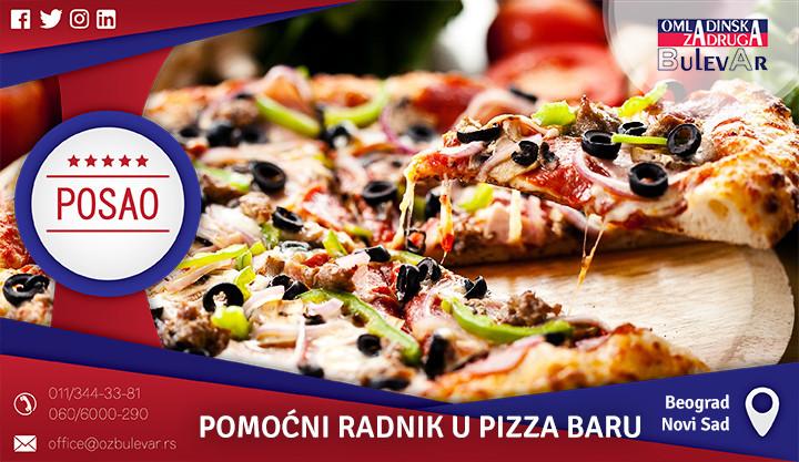 Beograd, Poslovi preko omladinske zadruge, Pizza bar, pizza, pomoćni radnik