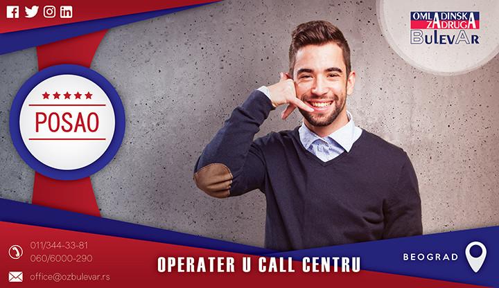 Beograd, Poslovi, Poslovi preko omladinske zadruge, Omladinska zadruga, Call centar, operater u call centru, operater