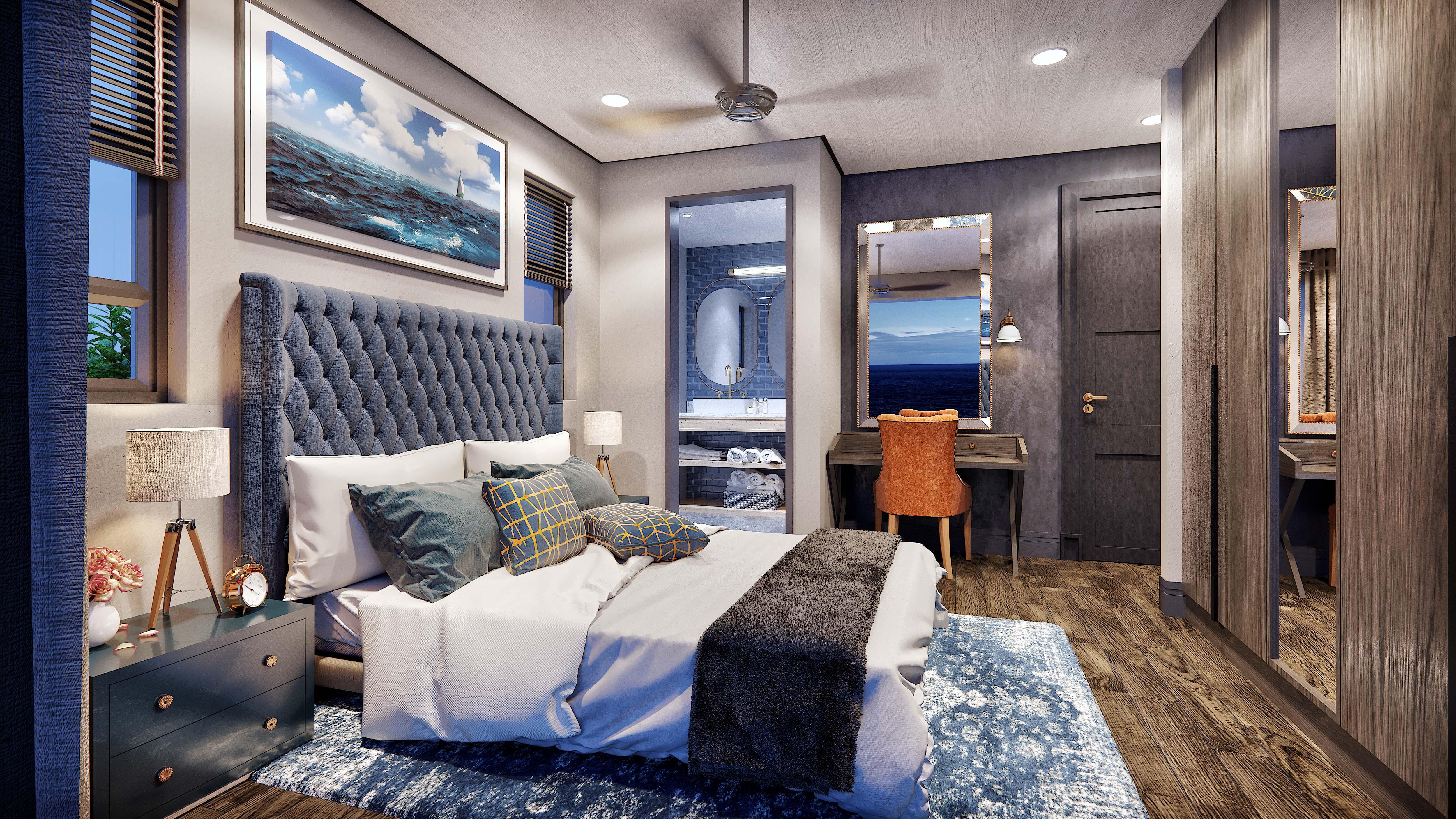 Type E & F - Penthouse Bedroom