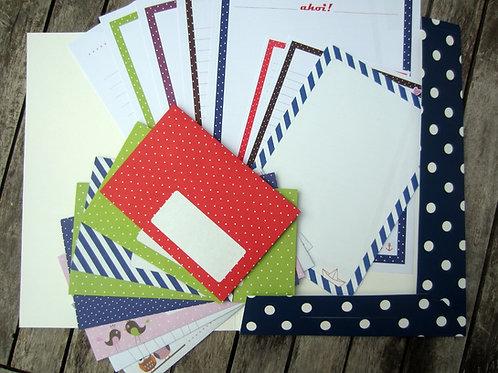 Kunterbuntes Briefpapier-Set XXL