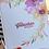 Thumbnail: Florales Notizbuch A5