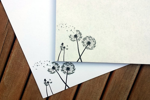 Kleines Pusteblume-Briefset