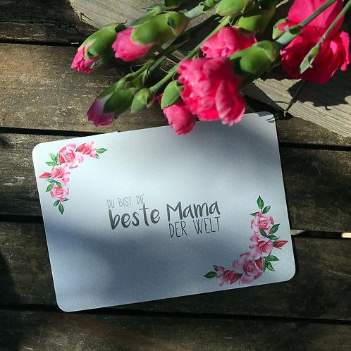 """Postkarte """"Du bist die beste Mama der Welt"""""""
