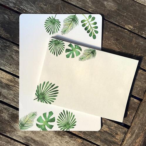Florales Briefset A5 | palm