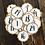 Thumbnail: Adventskalender-Zahlen auf Kraftpapier