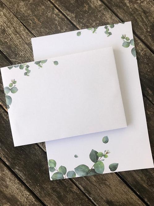 Kleines Eukalyptus-Briefset