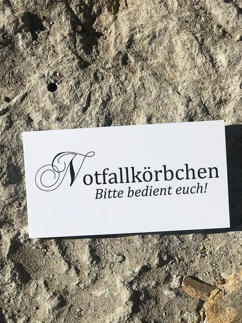 """Schild """"Notfallkörbchen"""""""
