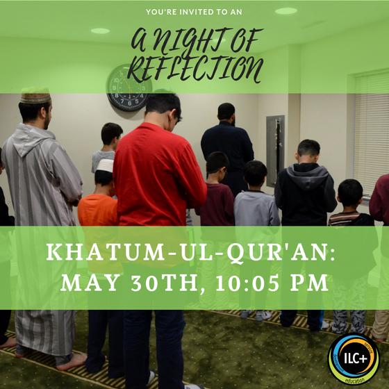 Join us tonight for Khatam ul Quran and dua with Qari Samiullah