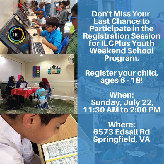 Join ILC+ Youth Weekend School Program Registration Session