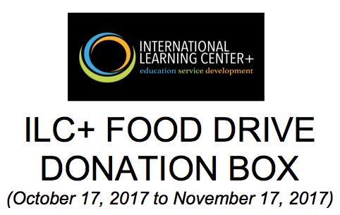 ILC+ Food Donation Drive