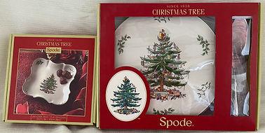 #24 - Spode Christmas Tree Cake Plate, S