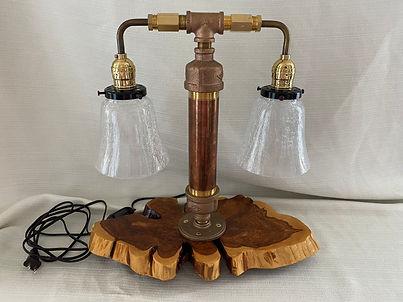 #26 - Handmade Lamp (Double) on Cedar Ba
