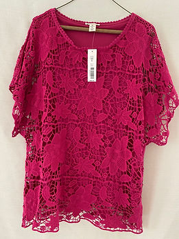 #20 - Westbound Lace Blouse Size XL (Hot