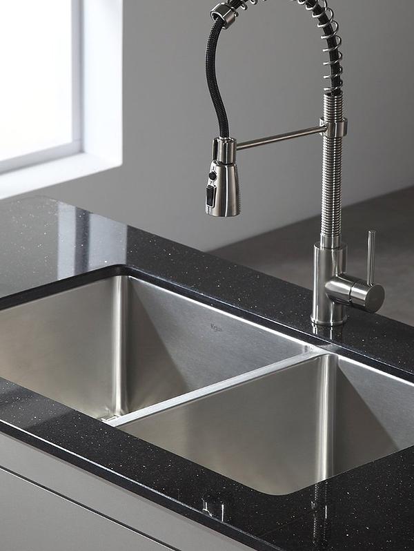 SCM Design Group industrial kitchen faucet