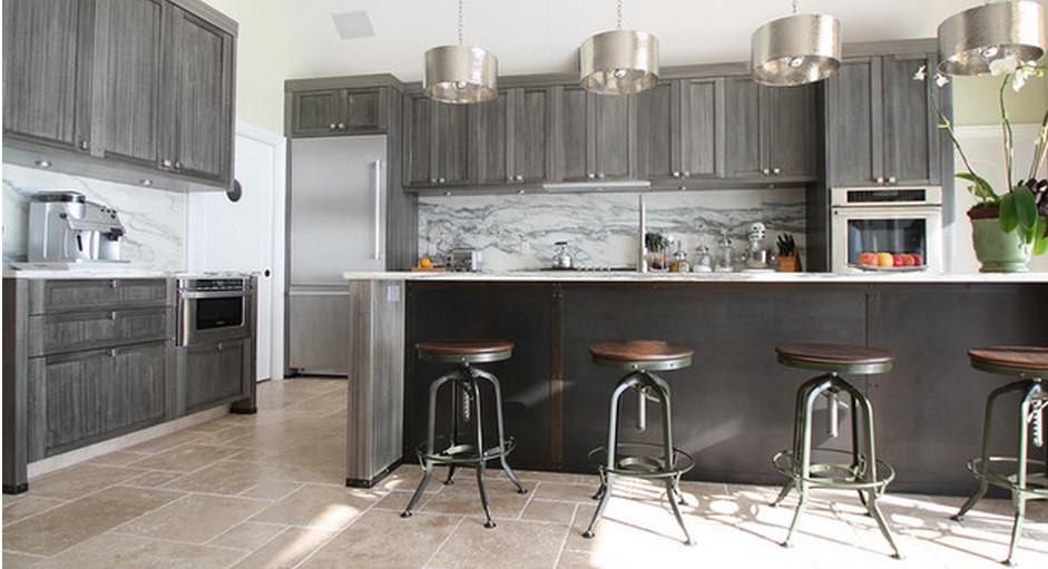 SCM Design Group modern kitchen with dark earth tones