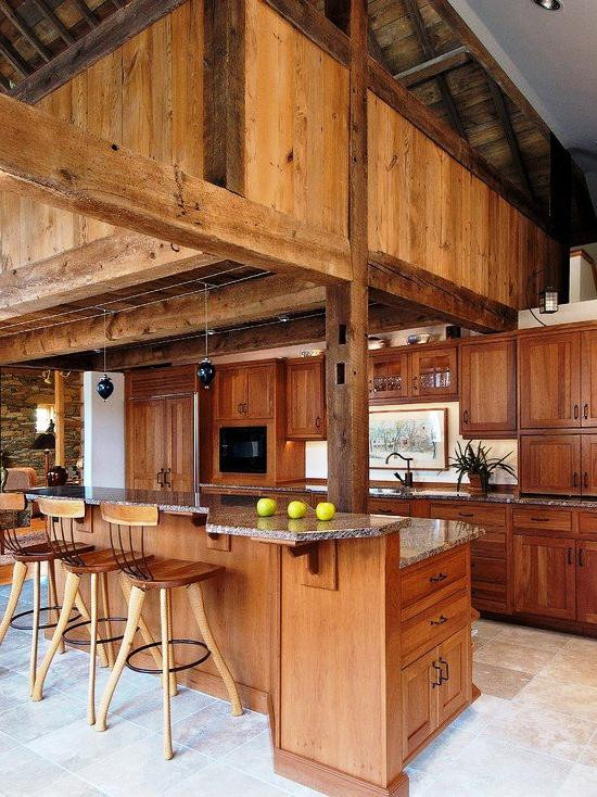 SCM Design Group full rustic wood kitchen