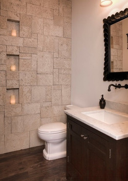 SCM Design Group stone accent wall