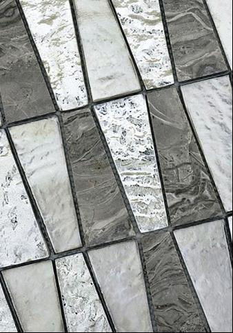 SCM Design Group modern marbled tile pattern