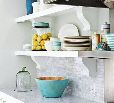 Style open shelving in your kitchen