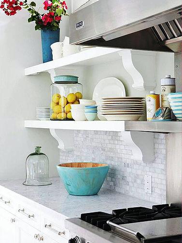 SCM Design Group bright white open shelving