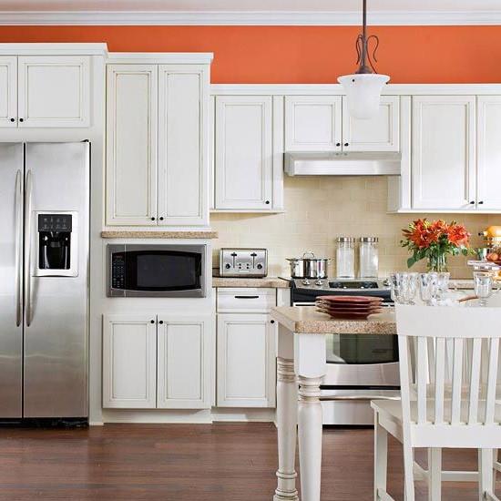 SCM Design Group Lyndsey Lane Teal Kitchen Orange Wall.jpg