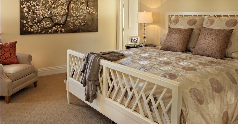 SCM Design Group neutral guest bed