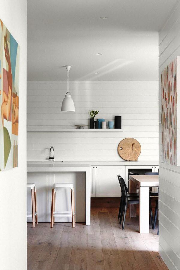 SCM Design Group white walls in kitchen
