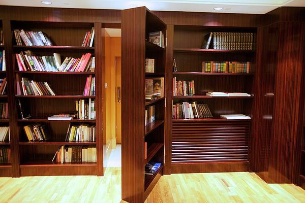 SCM Design Group behind bookcase storage