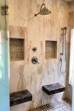 SCM Design Group double shower seat