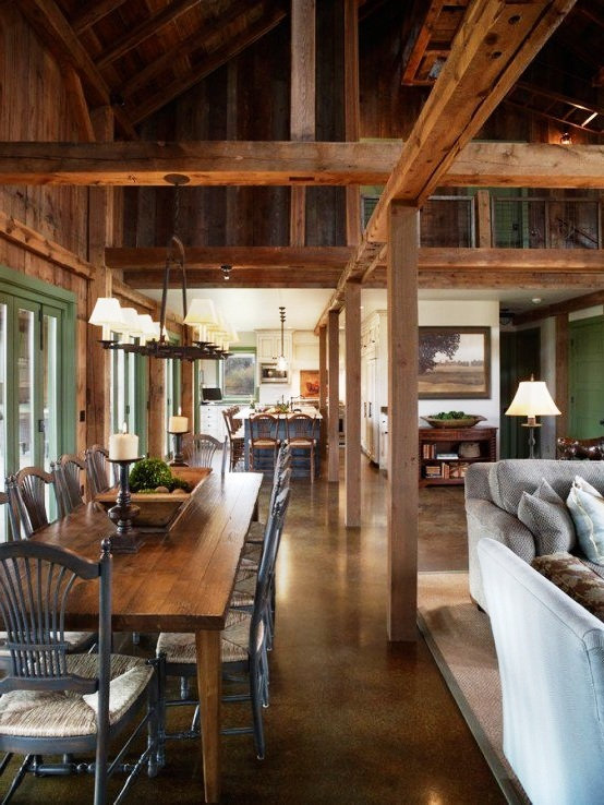 Reclaimed wood, kitchen barn design, Pablo Arguello, SCM Design Group, TWRS Painting Contractors